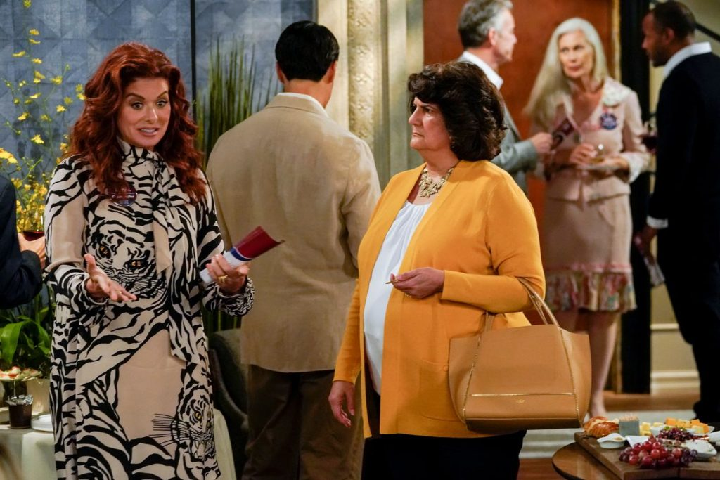 "Livia Trevino with Debra Messing in ""Will and Grace"""